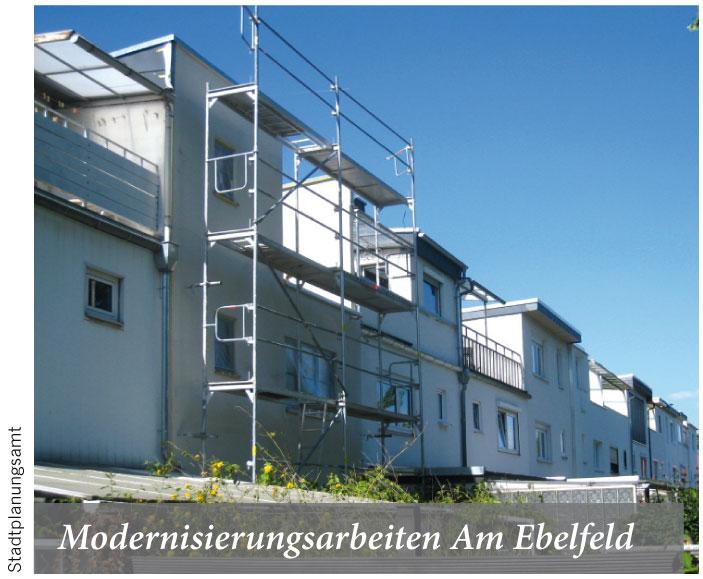 Modernisierungsarbeiten Am Ebelfeld