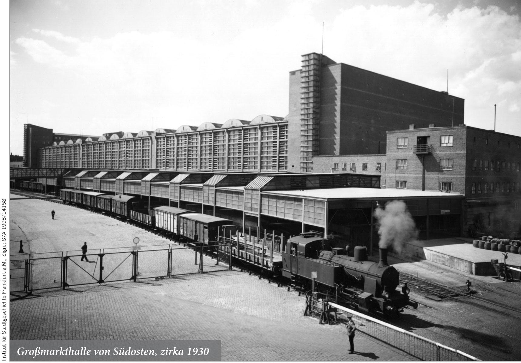 Großmarkthalle von Südosten, zirka 1930