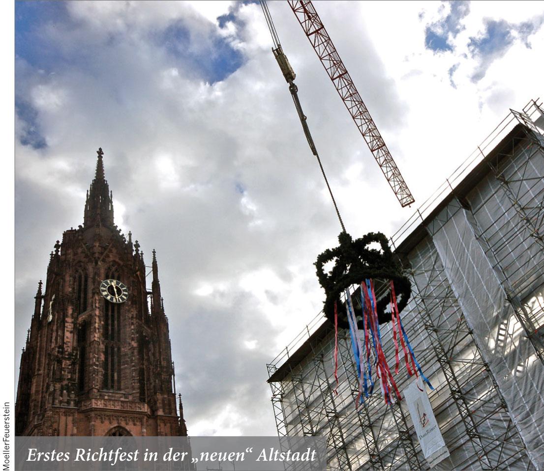 """Erstes Richtfest in der """"neuen"""" Altstadt"""