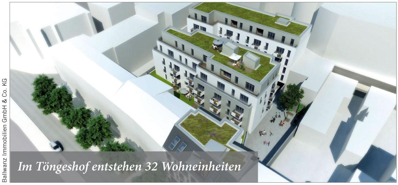 Im Töngeshof entstehen 32 Wohneinheiten