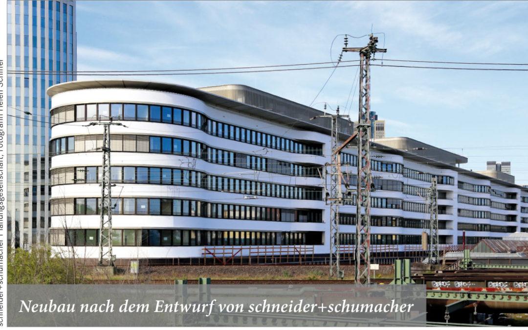 Neubau nach dem Entwurf von schneider+schumacher