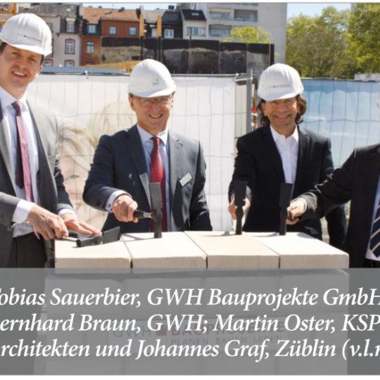 Alea – Grundsteinlegung für 300 neue Wohnungen an der Mainzer Landstraße