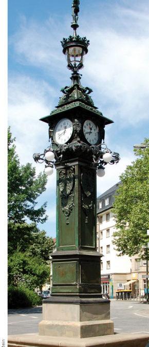 Das historische Uhrtürmchen im Ostend