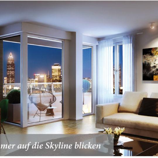 Mietwohnungen mit  Skyline-Blick  im Westside Tower