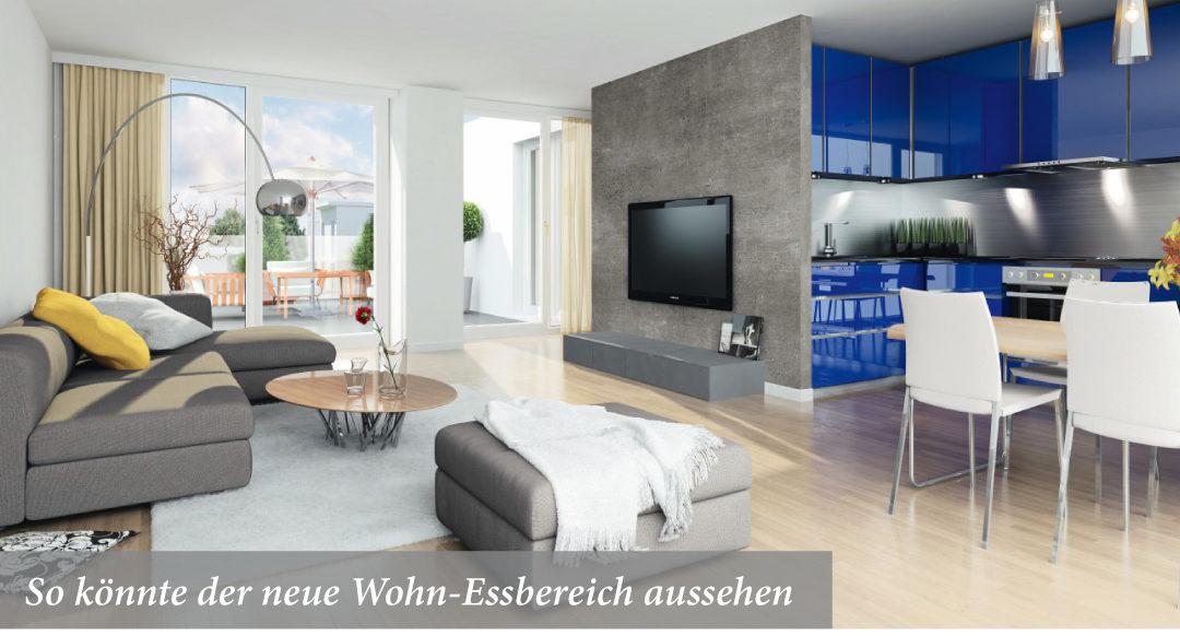 So könnte der neue Wohn-Essbereich aussehen