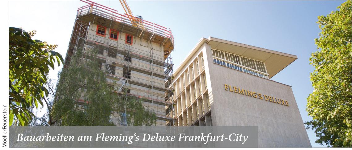 Bauarbeiten am Fleming s Deluxe Frankfurt-City