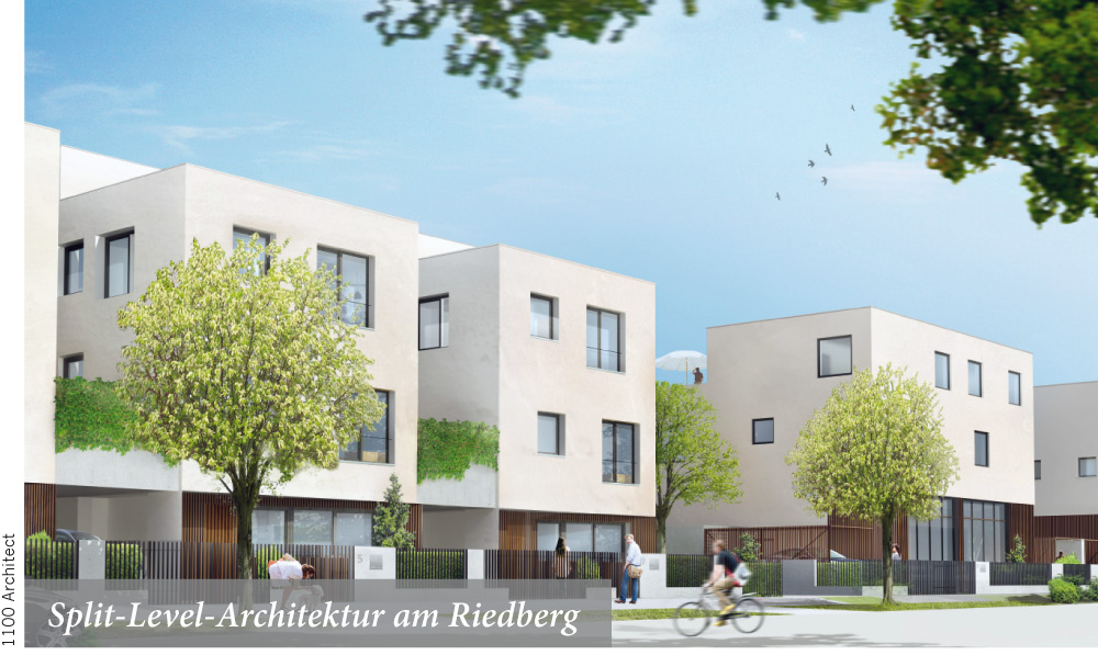 Split-Level-Architektur am Riedberg