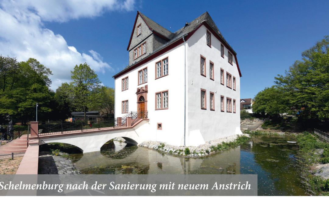 Schelmenburg nach der Sanierung mit neuem Anstrich