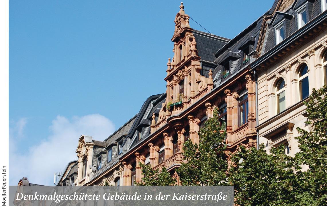 Denkmalgeschützte Gebäude in der Kaiserstrasse