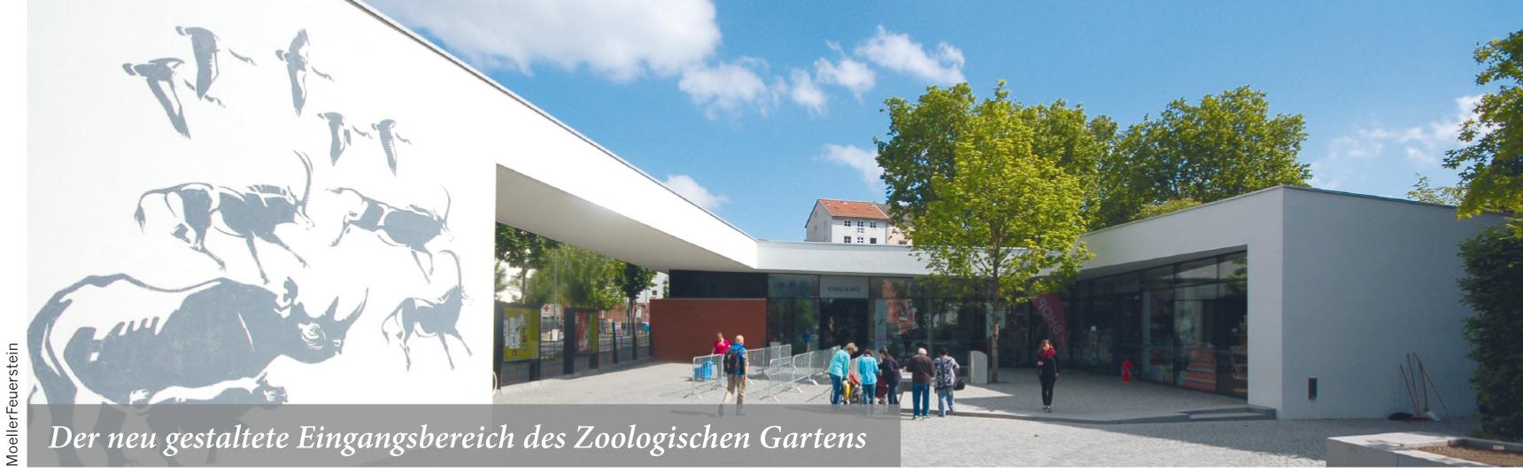Der neu gestaltete Eingangsbereich des Zoologischen Gartens