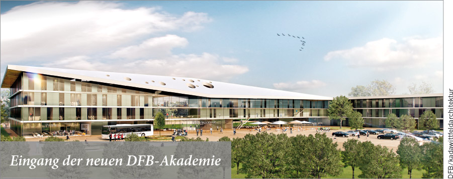 Eingang der neuen DFB-Akademie