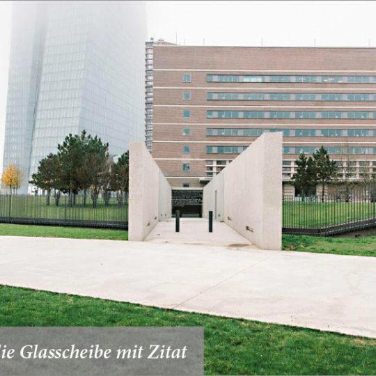 Erinnerungsstätte an der EZB eröffnet