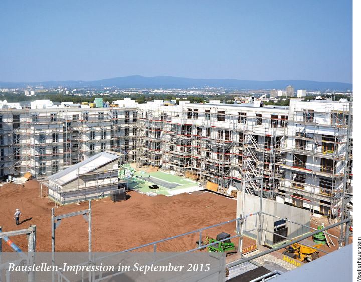 Baustellen-Impression im September 2015