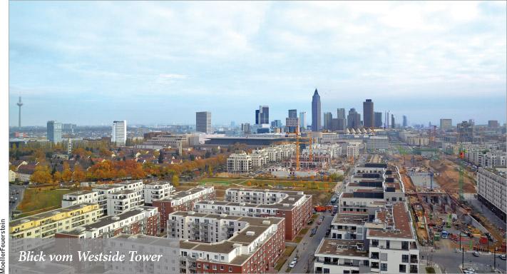 Blick auf Frankfurt aus  einer neuen Perspektive