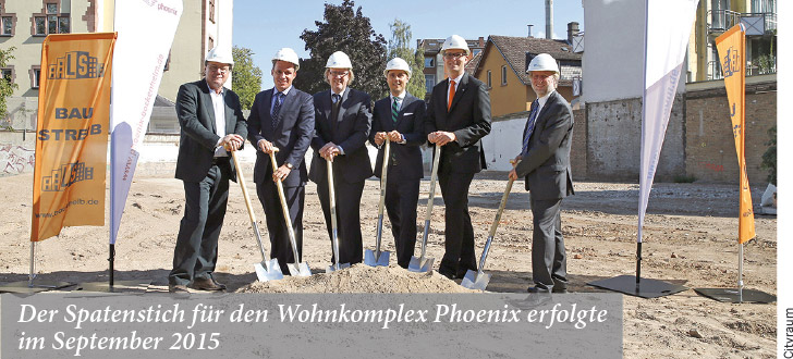Der Spatenstich für den Wohnkomplex Phoenix erfolgte im September 2015