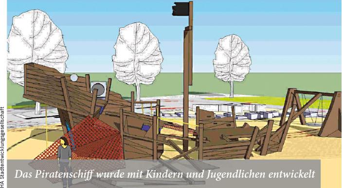 Das Piratenschiff wurde mit Kindern und Jugendlichen entwickelt