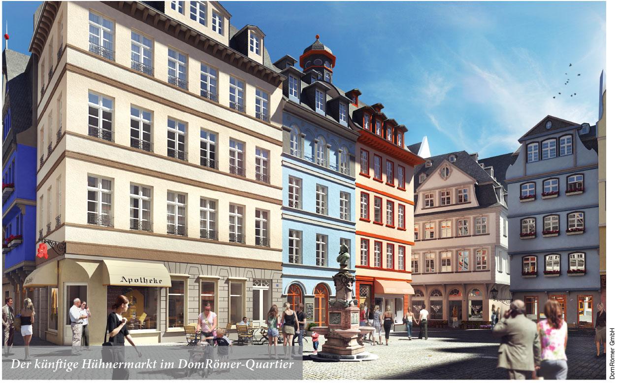 Der künftige Hühnermarkt im DomRömer-Quartier