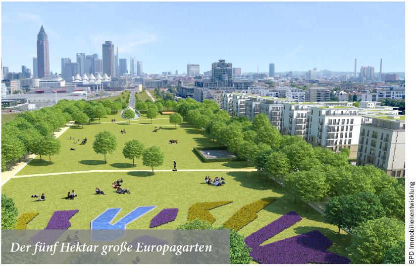 Der fünf Hektar große Europagarten