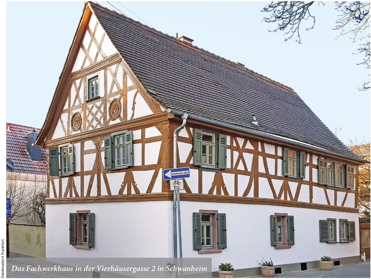 Das Fachwerkhaus in der Vierhäusergasse 2 in Schwanheim