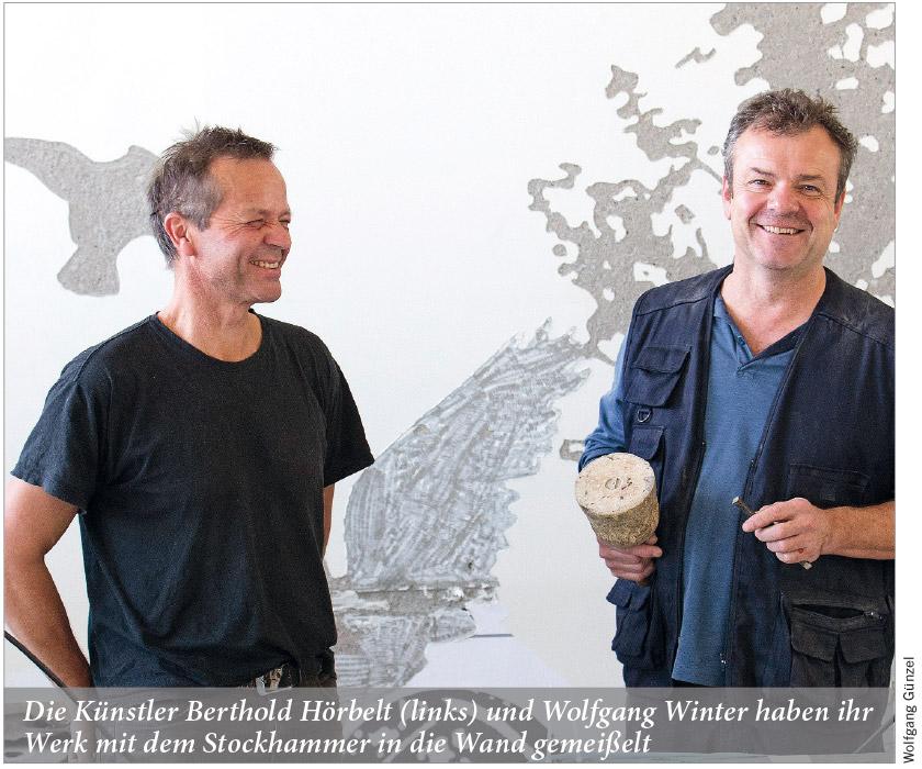 Die Künstler Berthold Hörbelt und Wolfgang Winter