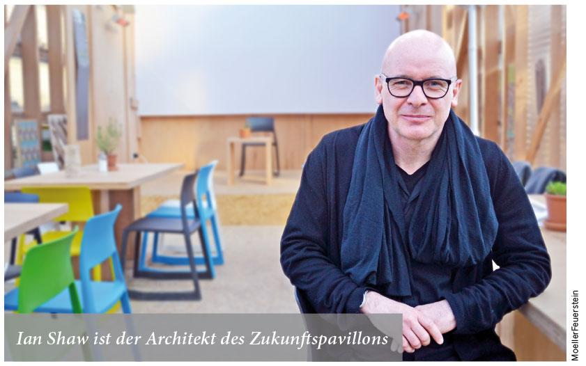 Ian Shaw ist der Architekt des Zukunftspavillons