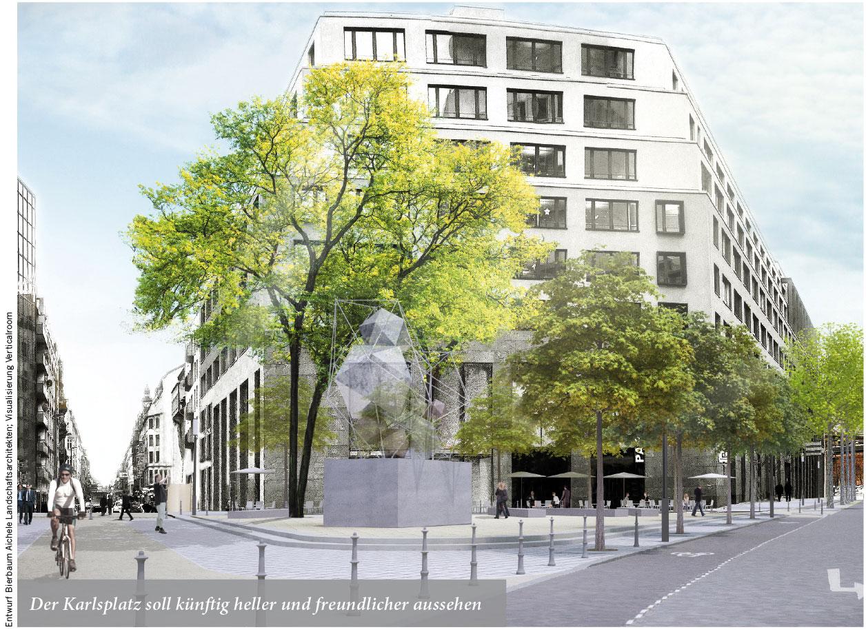 Der Karlsplatz soll künftig heller und freundlicher aussehen