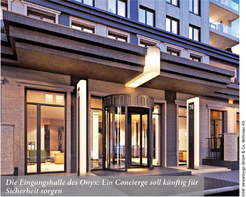 Die Eingangshalle des Onyx: Ein Concierge soll künftig für Sicherheit sorgen