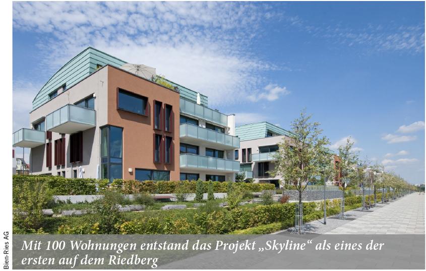 Mit 100 Wohnungen entstand das Projekt Skyline als eines der ersten auf dem Riedberg