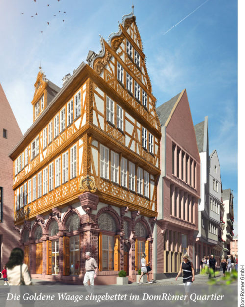 Wiederaufbau der Goldenen Waage in der Altstadt
