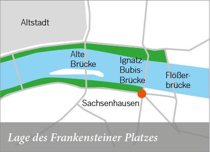Lage des Frankensteiner Platzes
