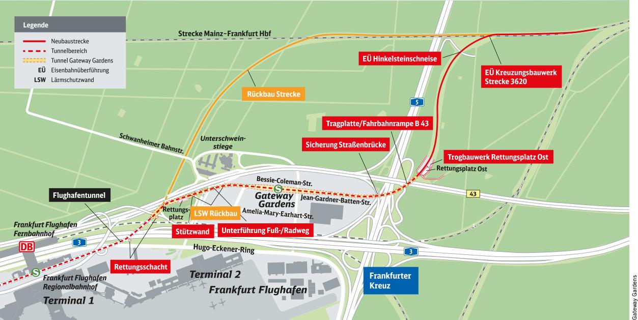 Karte Gateway Gardens