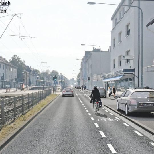 Mehr Platz für Radler und Fußgänger