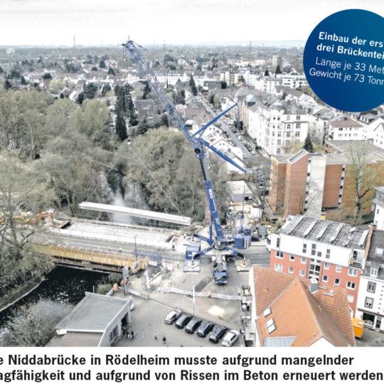 Neubau der Niddabrücke