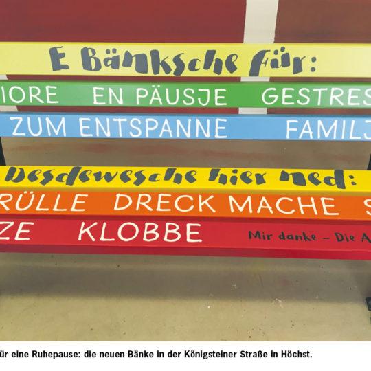 """""""E Bänksche zum Entspanne"""""""