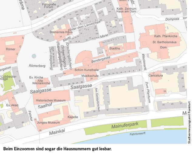 Frankfurts neue digitale Stadtkarte