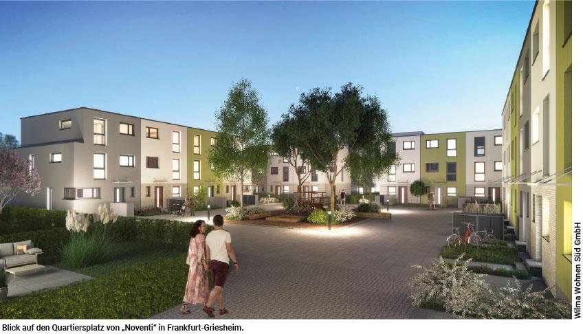Neues Wohnquartier mit Passivhäusern