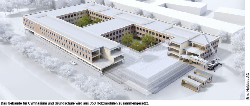 Weltgrößte Schule aus Holzmodulen