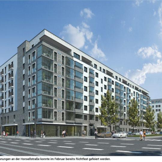 Hafenpark Quartier Frankfurt wächst empor
