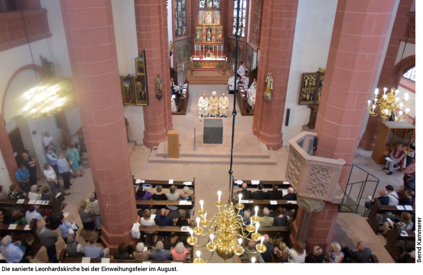 sanierte Leonhardskirche
