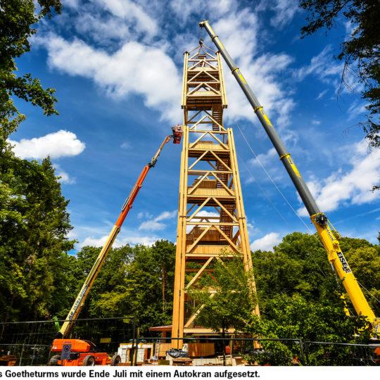 Der Goetheturm ist zurück