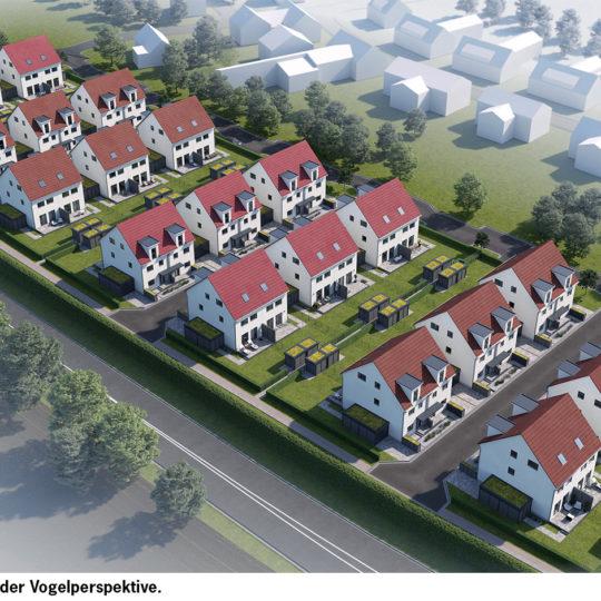 Neues Wohnquartier mit 44 Doppelhaushälften