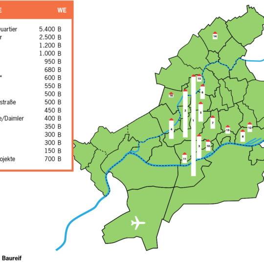 Flächen für zirka 16500 Wohnungen sind baureif